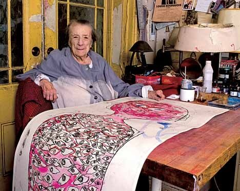 """I believe that if you work enough, the world is going to get better""   Louise Bourgeois, 1911-2010"