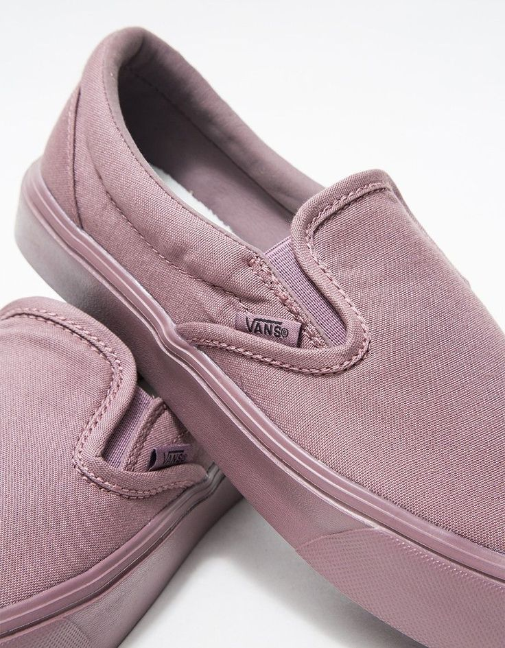 From Vans, the Slip-On Lite shoe in Mauve. Elasticized tongue gussets. Padded collar. Vans Flag tag. Tonal stitching. UltraCush Lite sockliner. • Canvas upper • Signature rubber waffle outsole • Women's sizes listed