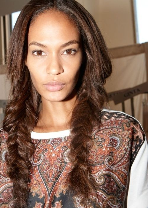 73. Joan Smalls African American Hairstyle: Fishtail pigtails Supermodel Joan Smalls rocks two trends at once with her fishtail-plaited pigtails. Fishtail plaits are very fashionable at the moment, and we're sure they will be very popular in summer 2014. Find a how-to tutorial online to get a step-by-step guide to creating perfect fishtail plaits.