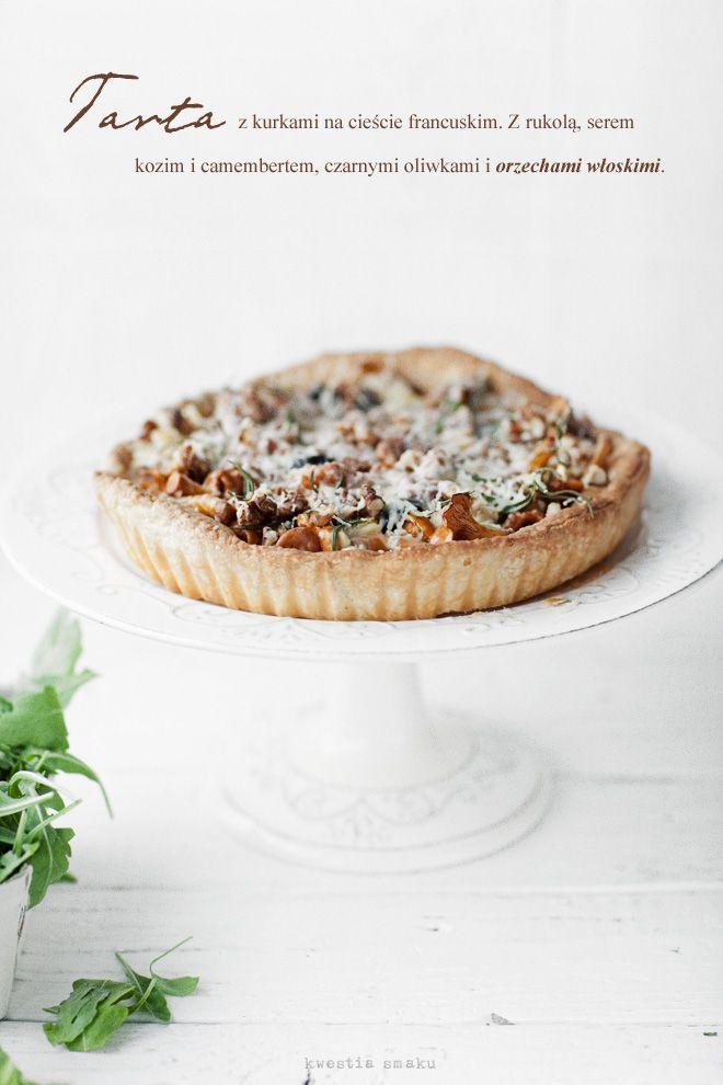 Tarta Francuska  { French Tart of Mushroom, Black-Olives, Goat-Cheese, Camembert, Walnuts and Arugula }