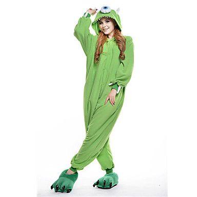 Kigurumi+Pijamas+nueva+Cosplay®+/+Monster+Leotardo/Pijama+Mono+Halloween+Ropa+de+Noche+de+los+Animales+Verde+Retazos+Lana+Polar+Kigurumi+–+USD+$+21.59