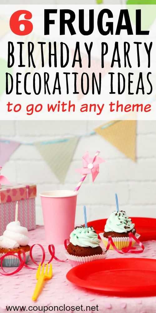 Throwing a birthday party doesn't have to cost you a fortune. You can still have a fun and festive party without spending a lot of money. Here are 6 Frugal birthday party decoration ideas to go with any theme your child wants!