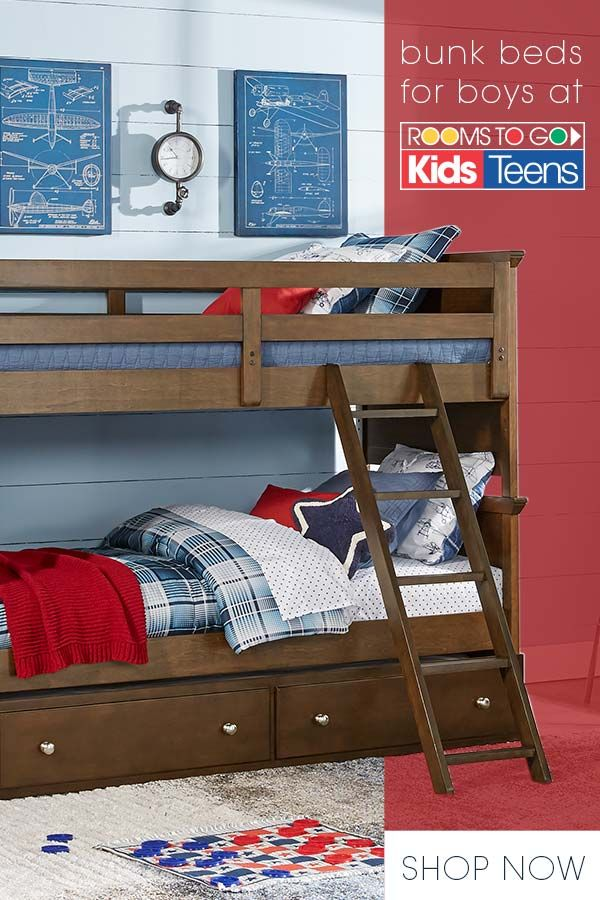 Have A Shared Space For Your Boys A Bunk Bed Is The Perfect