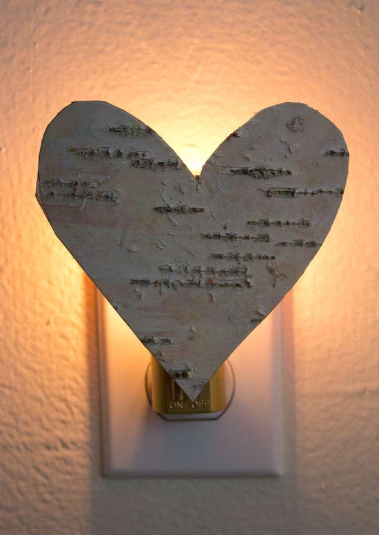 Poppytalk - O belo, o decadente eo artesanal: DIY casca de bétula Nightlight