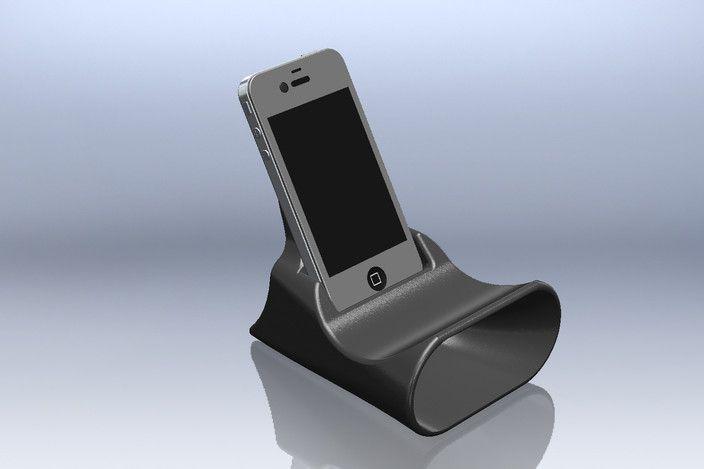 Iphone Amplifier Stand - STL, STEP / IGES, SOLIDWORKS - 3D CAD model - GrabCAD