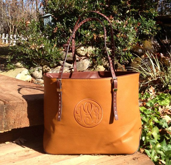 Soooo in love....Monogram Purse in Mocha with A color on Color by IFlewTheNest, $50.00
