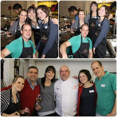 wine.co.za have a go at being Masterchefs at judge Pete Goffe-wood's Kitchen Cowboys haunt along with Nederburg's cellarmast Razvan