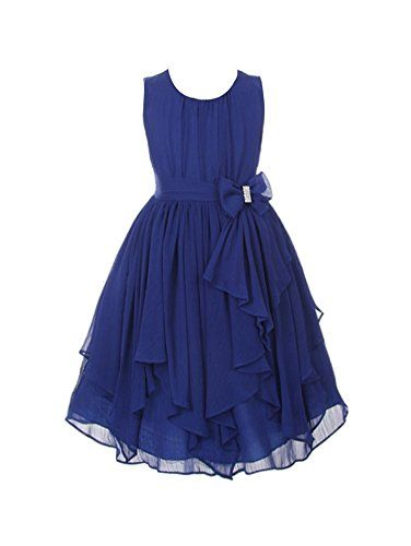 DressForLess Yoryu Chiffon Asymmetric Ruffled Flower Girl Dress , Navy, 4, (KK2040NV-4) DressForLess http://www.amazon.com/dp/B00K8GCKYA/ref=cm_sw_r_pi_dp_xseevb1V4MA4S