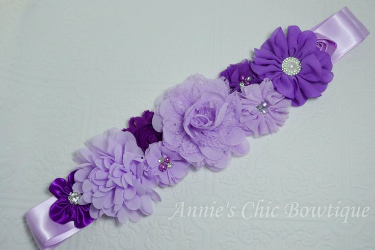 Purple Maternity sash, Baby Shower Sash, gender neutral sash, Purple sash, Lavender sash belt, Maternity sash girl, Pregnancy sash belt by AnniesChicBowtique on Etsy