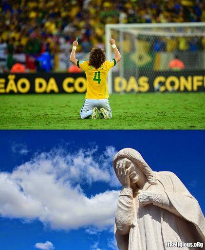 Football World Cup Prayer Jesus Facepalm
