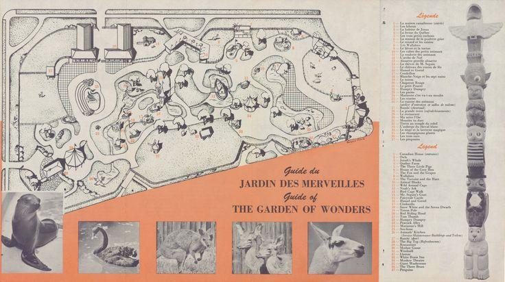 """Document intitulé: """"Visitez le jardin des merveilles-Parc Lafontaine"""" SOURCE: Archives de la Ville de Montréal; code:VM6-D1901-38-7-1-003"""
