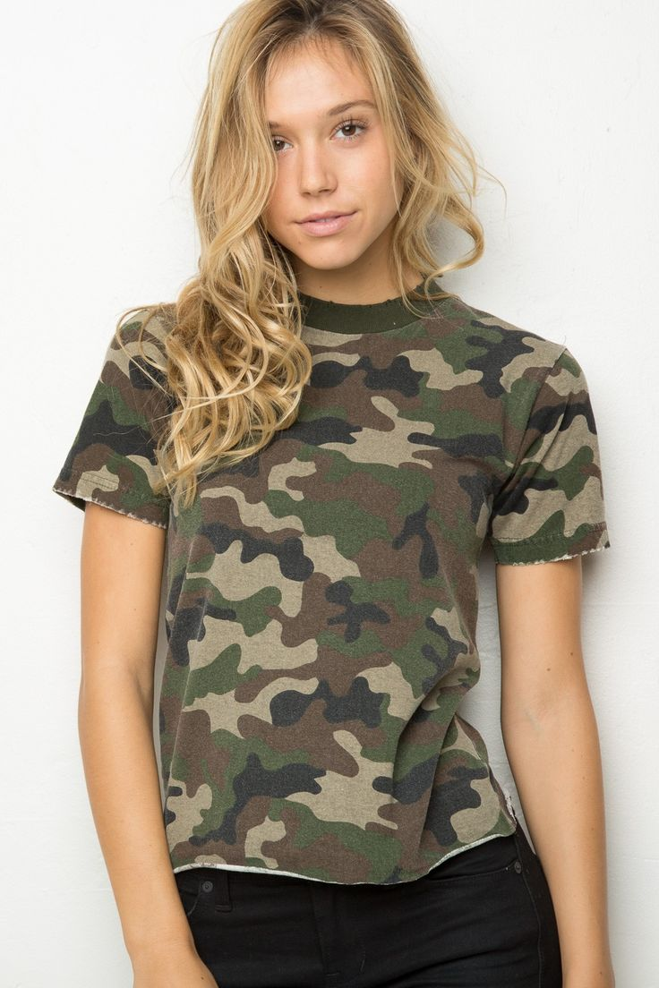 Brandy ♥ Melville | Rosalind Camo Top - Clothing