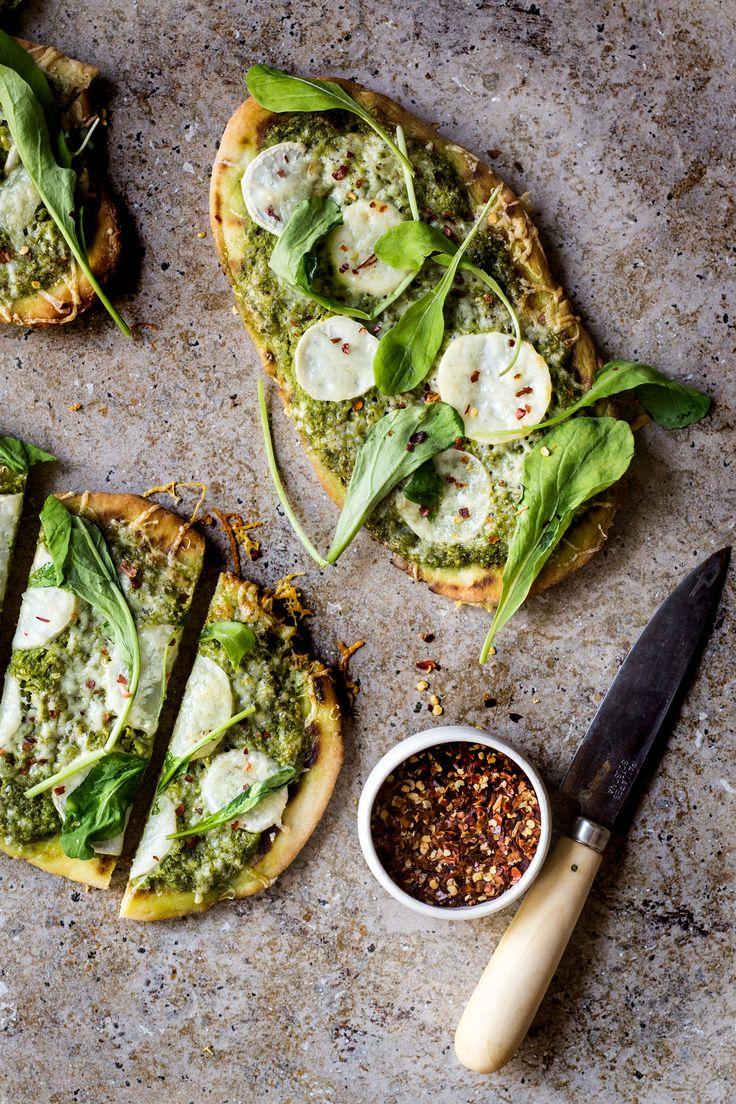 Turnip Green Pesto Pizza