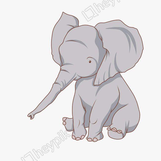 Wild Animal Elephant Illustration Png And Psd File Elephant Illustration Cute Elephant Cartoon Giraffe Illustration