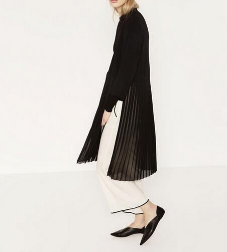 Купить Vogain 2016 новинка марка женщины черный прекрасно плиссированные подол куртки долго кимоно стиль кардиган пальто стороны разделяети другие товары категории Стандартные курткив магазине VogaInнаAliExpress. пальто куртки женщин и женщины норковую шубу
