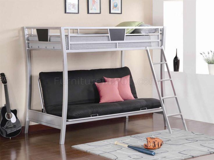 modern metal twin over futon bunk bed design