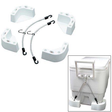 Attwood Marine Cooler Mounting Kit, White