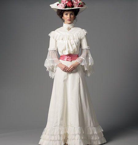 Historical Dress Pattern Butterick B5970 Victorian / Edwardian Costume Sewing…