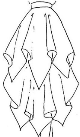 layered handkerchief skirt?