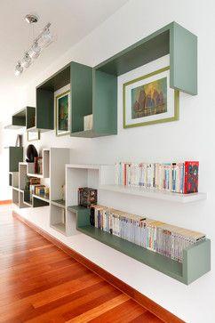 Salon, Bureau, Bibliothèque, Couloir contemporary-hall
