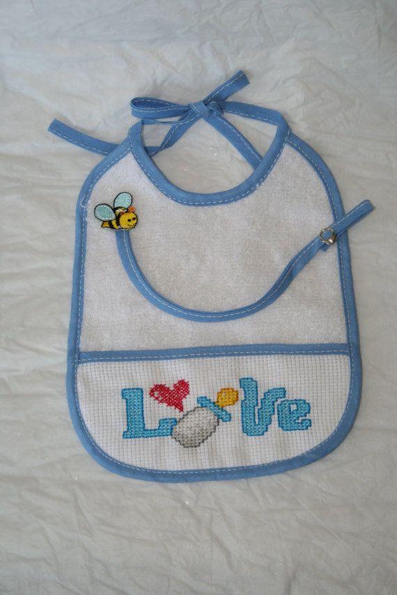 Bavaglino Azzurro Portaciuccio Love