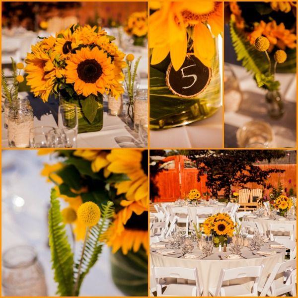 Best sunflower table centerpieces ideas on pinterest