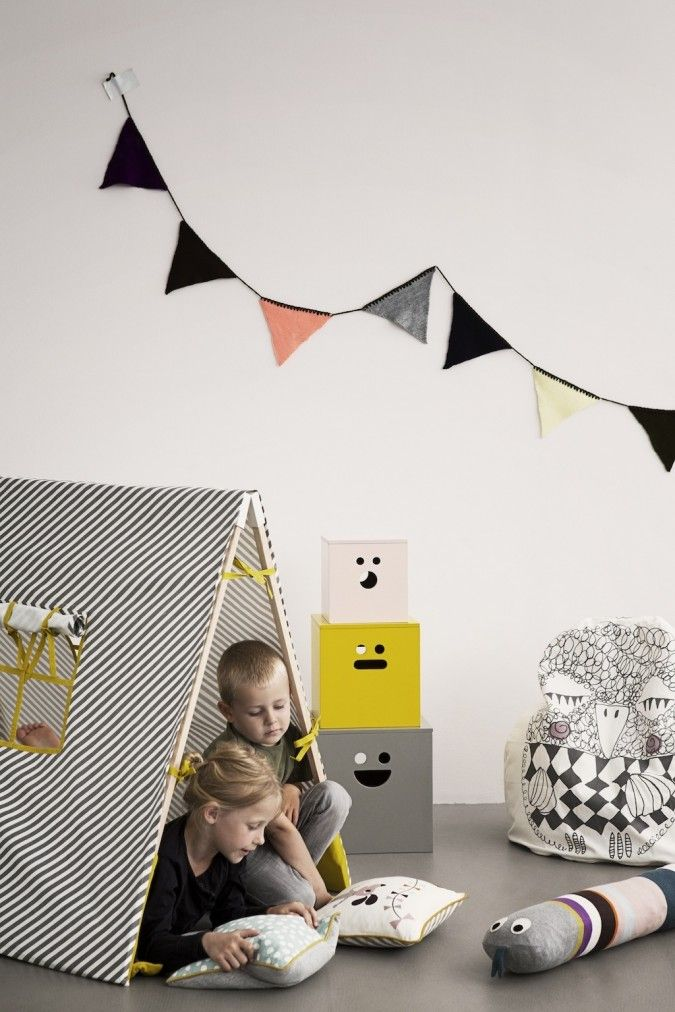 FERM Living MORE Kids Collection AW13 Children's play tent and fun storage boxes