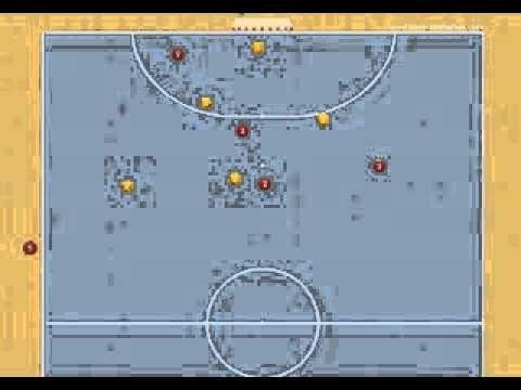 Jugada de estrategia de fútbol sala: Saque de banda cercano o corner con ataque de 5 - Ejercicios De Fútbol Sala
