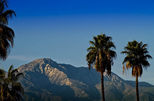 A view of the San Gabriel  Mountains. Inland Empire California. Picture was taken in Ontario, California
