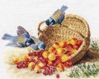 AL1-14 Sýkorky a košík s ovocem