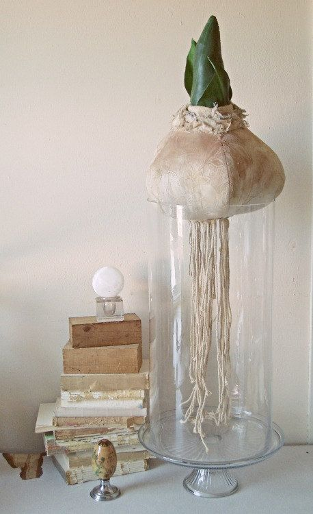 Soft sculpture of a sprouting bulb. Textile art. by MisterFinch