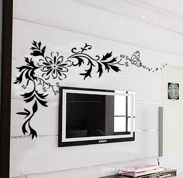 extraíble simple etiqueta patrón de fondo de la tv de la pared del dormitorio jm7032 pegatinas