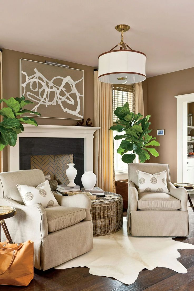 You Can Never Go Wrong with Taupe | Brown walls living ...
