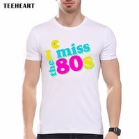 2017 Men's Fashion Short Sleeve I miss the 80s  Printed T-shirts Funny Tee Shirts Cool Soft Hipster O-neck Tops pa727