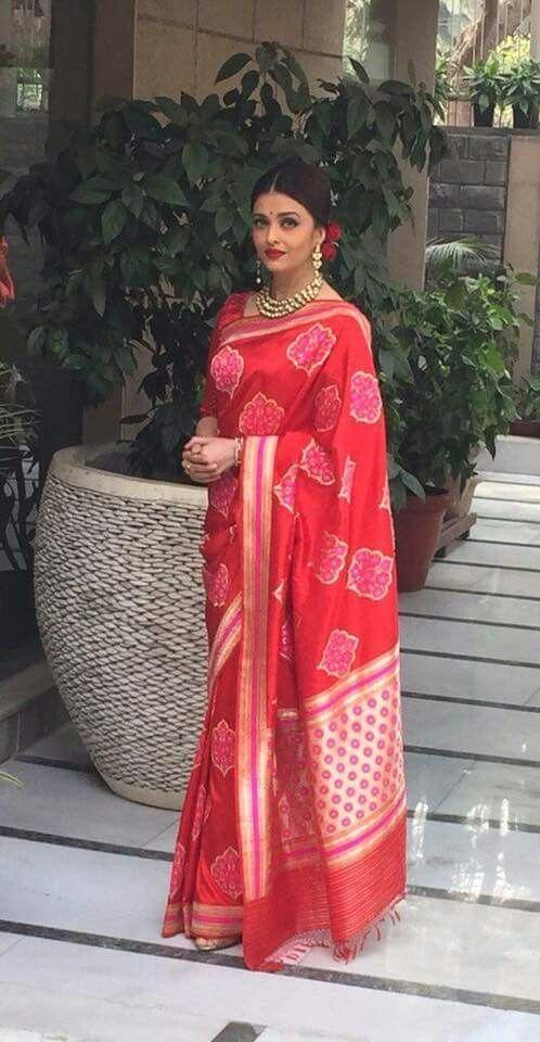 Aishwarya in a saree
