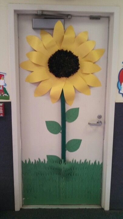 Sunflower door