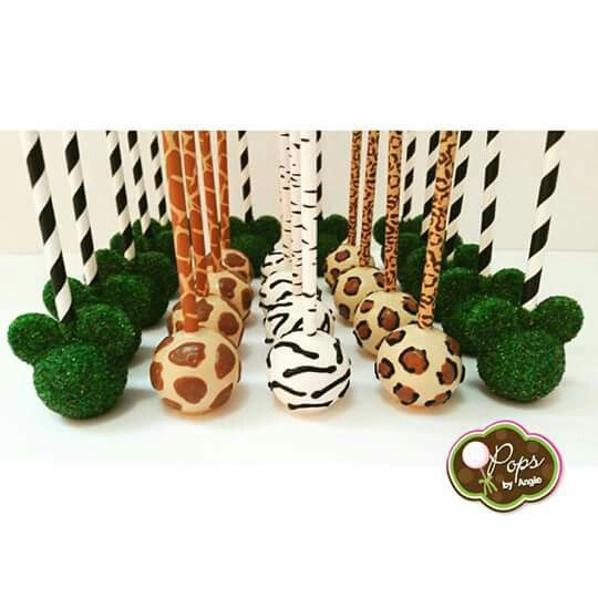 Disney Safari and Mickey Topiary (Cake Pops)