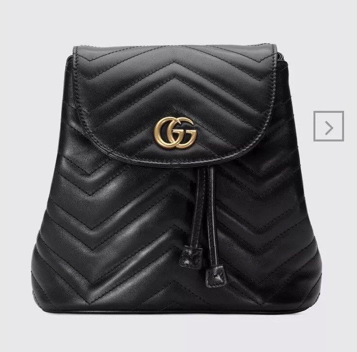 60829d909bd6 Authentic Gucci GG Marmont Black Matelassé Backpack | eBay | Ebay ...