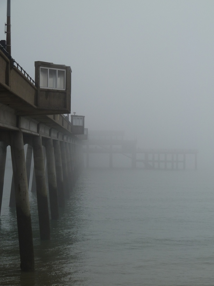 Deal pier in the fog! Eerie...