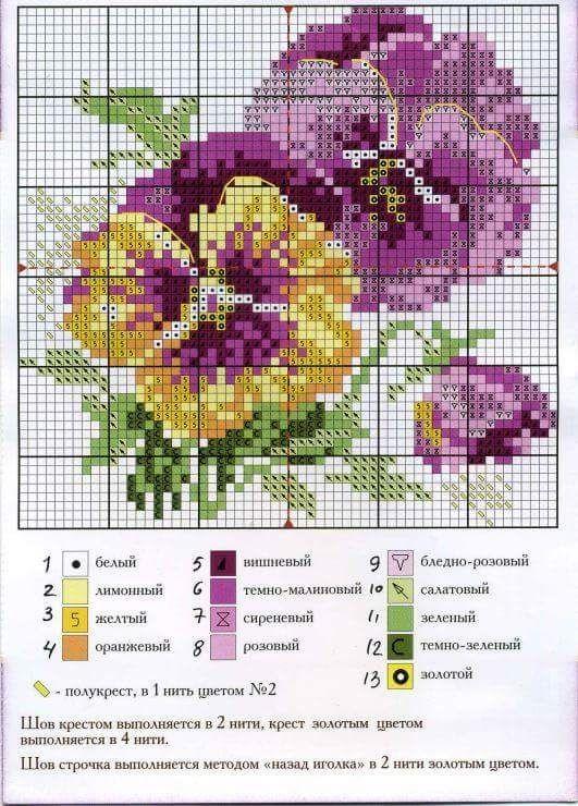 lo spazio di lilla: Fiori a punto croce / Criss stitch flowers, free patterns