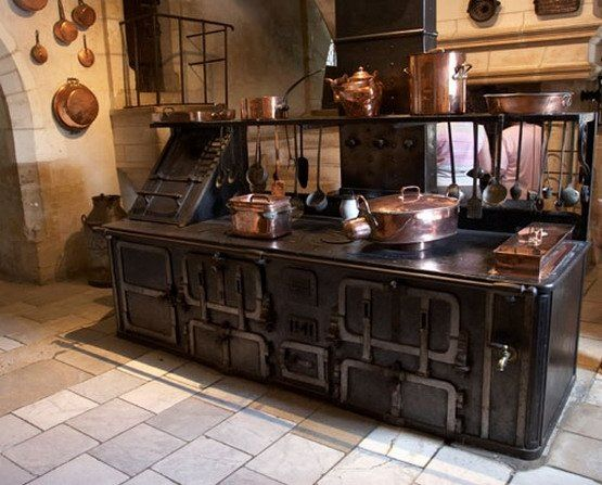 Black and Copper Old World Steampunk Style Kitchen