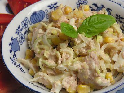 Sałatka z tuńczykiem i porem