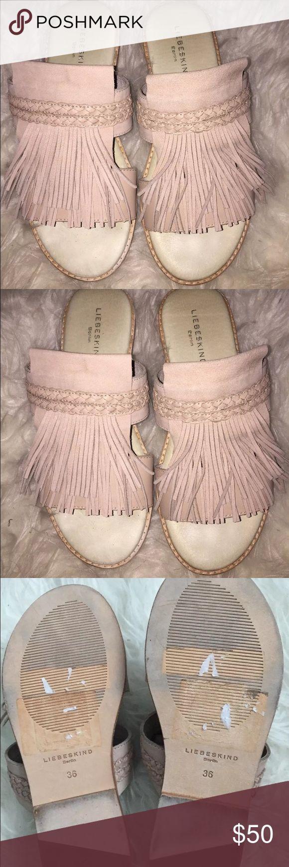New leatherfringe sandals ANTHROPOLOGIE liebskind Brand new. No flaws. Leather fringe sandal Liebeskind Shoes Sandals