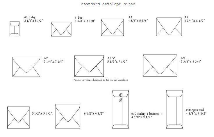21 best Sizes for Invites and Envelopes images on Pinterest Bridal