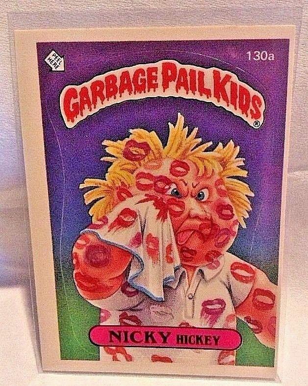 1986 Garbage Pail Kids Nicky Hickey 130a Os4 Original Series 4 Gpk Topps Miscut Topps Garbage Pail Kids Cards Garbage Pail Kids Pail