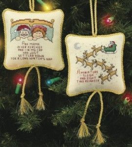 Christmas cross stitch ornaments ornament craft for Country woman magazine crafts