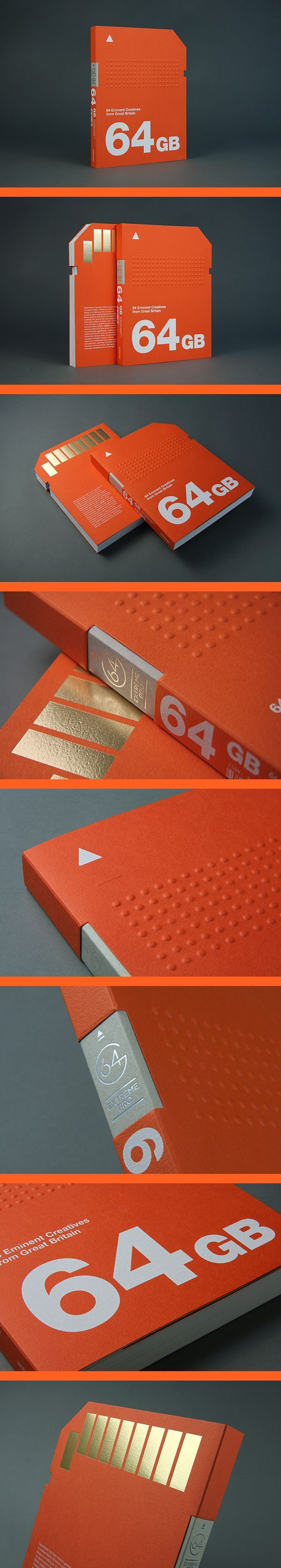 64GB 64 Eminent Creatives from Great Britain | love the vibrant orange, bold font and the use of the die-cut.