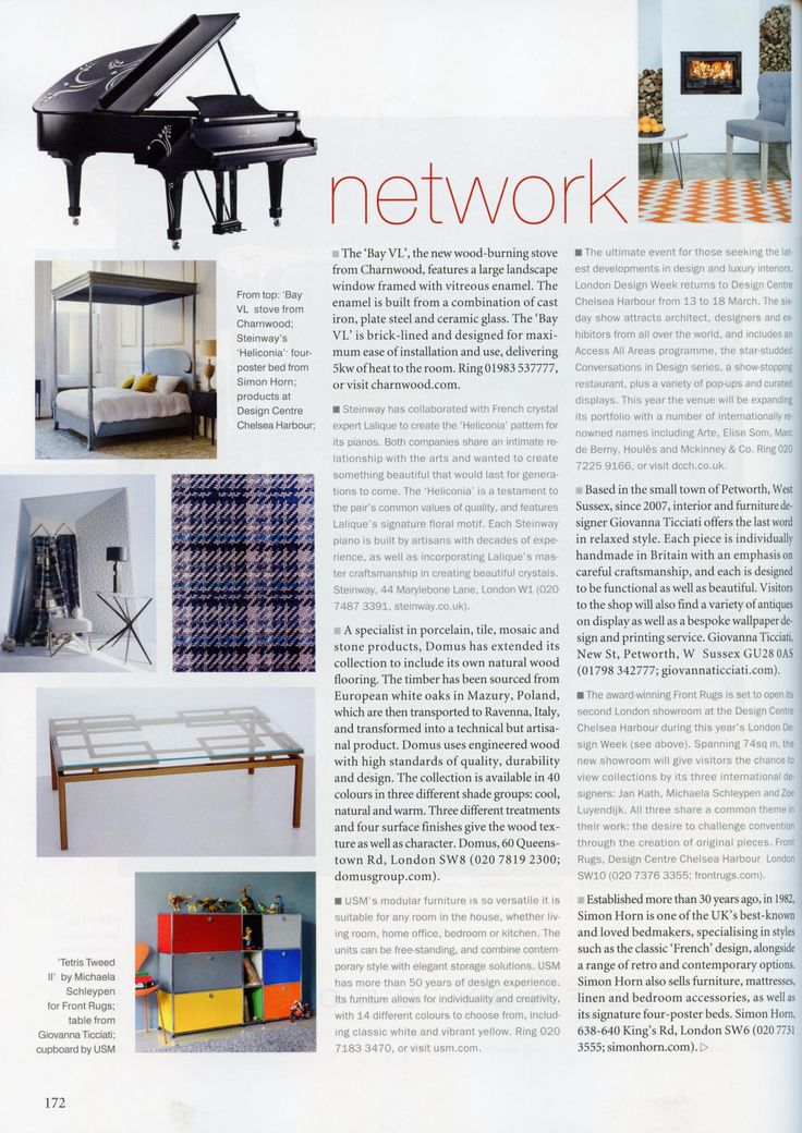 Simon Horn was established more than 30 years ago and is one of the UK's best-known and loved bedmakers. http://simonhorn.com/ The World of Interiors April 2016