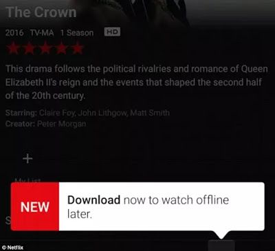 Netflix Users Can Now Download Movies And TV Shows For Offline Viewing