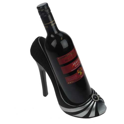 Shoe Wine Holder Black and Silver. AUGH! Where to pin!?